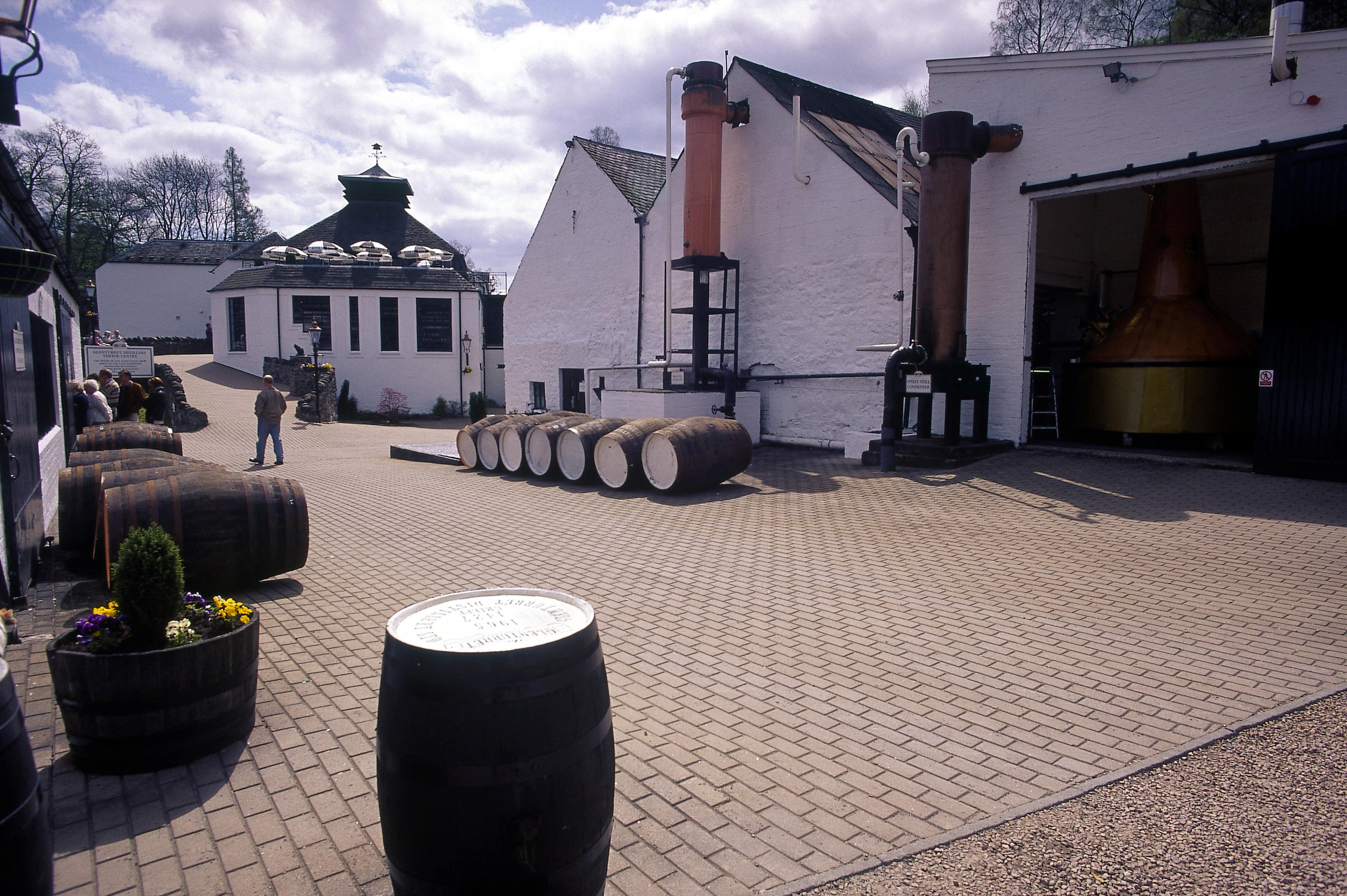 Edradour distilleerderij in Pitlochry