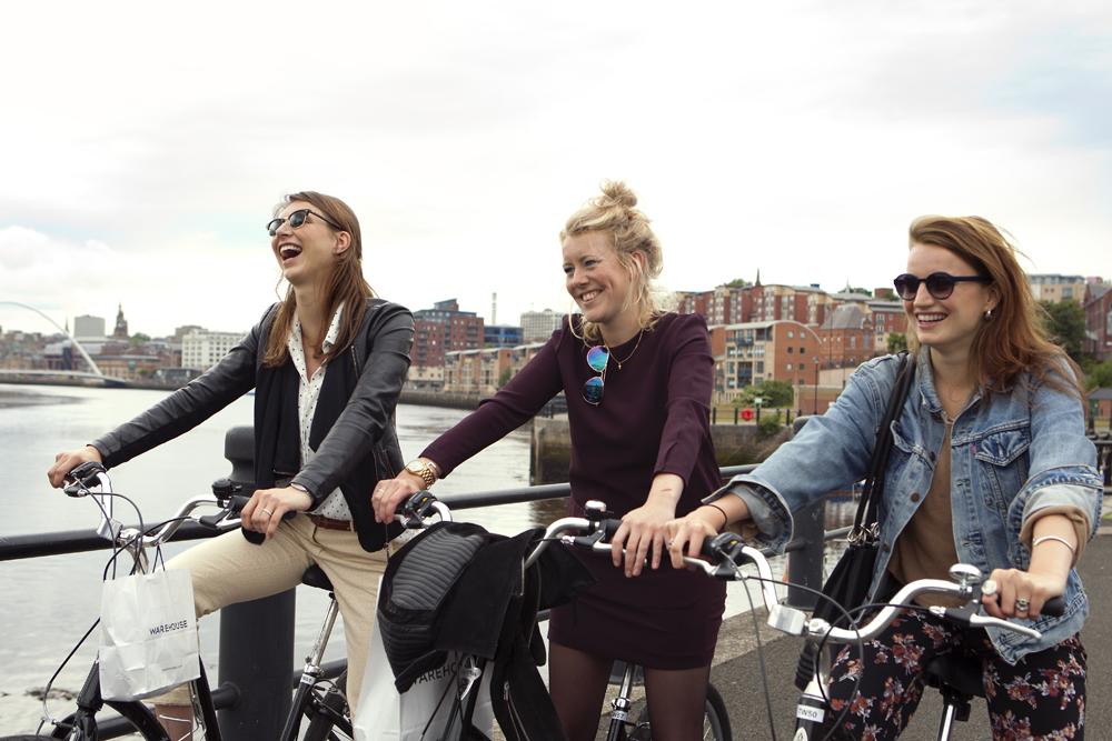 Huur een fiets en ontdek de highlights van Newcastle