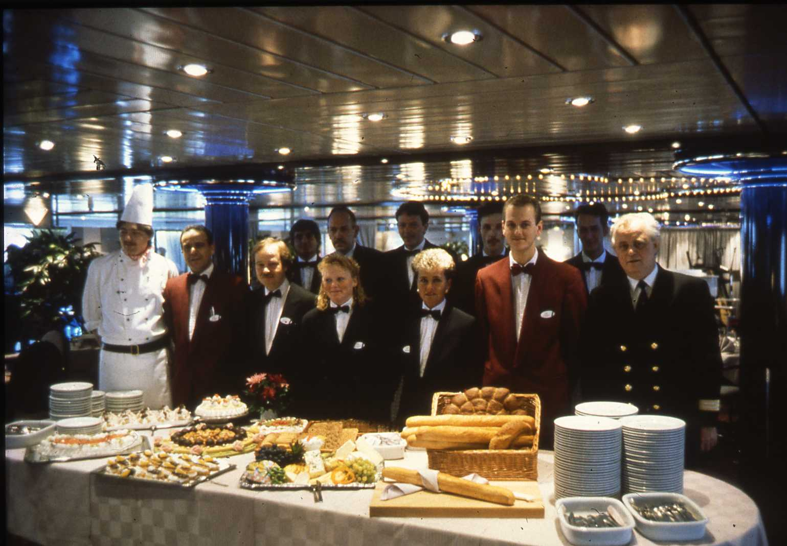 Crew aan boord van de Winston Churchill