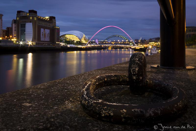 De beroemde bruggen over de Tyne in Newcastle