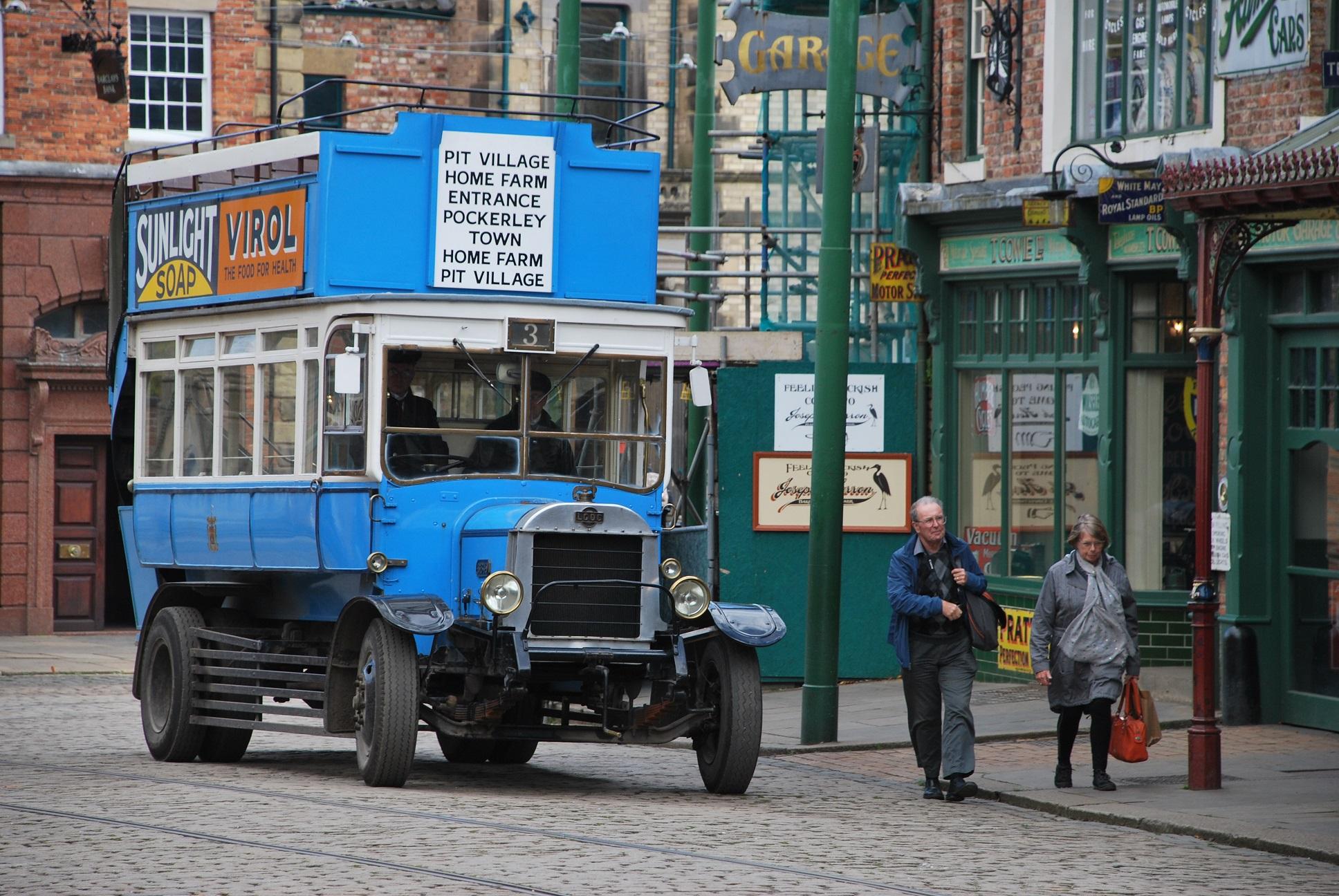 Een typisch vervoersmiddel in Beamish Museum
