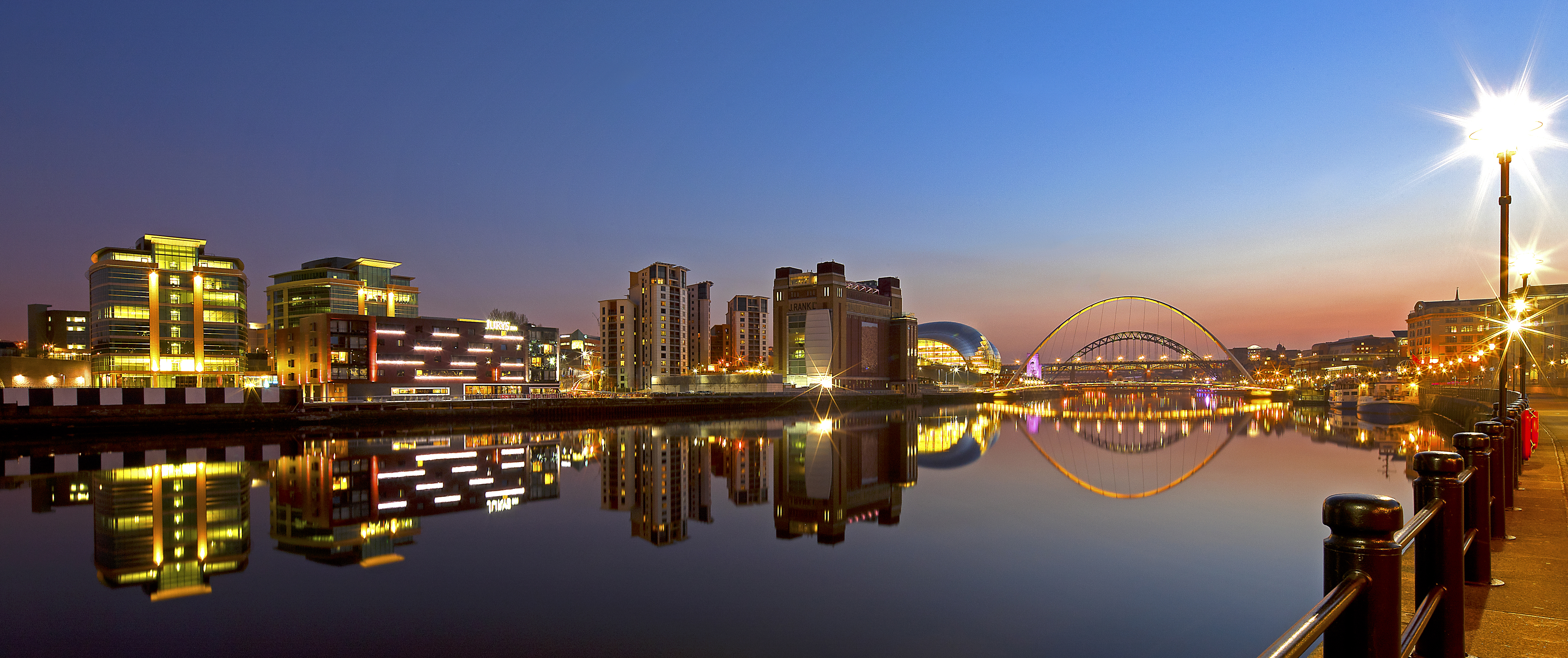 Quayside at night