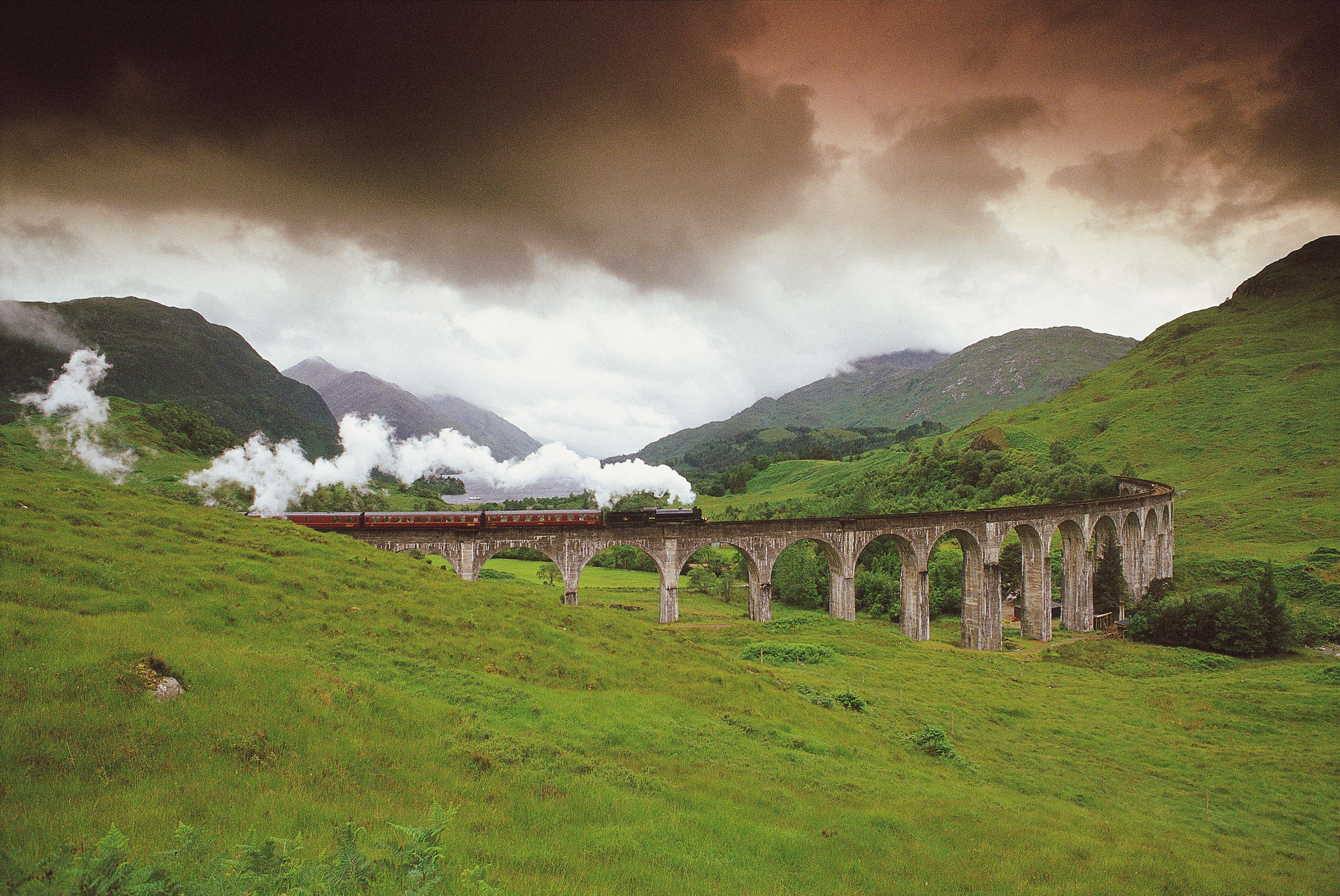 Het Glenfinnan viaduct in de Highlands