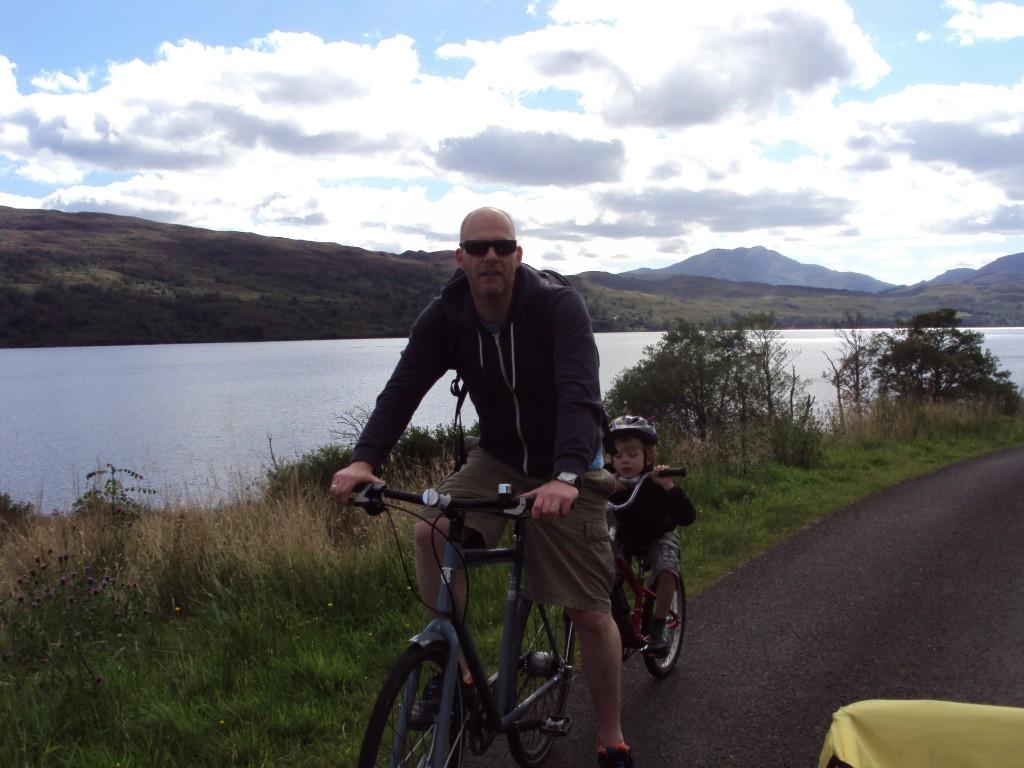 Fietsen bij Loch Katrine