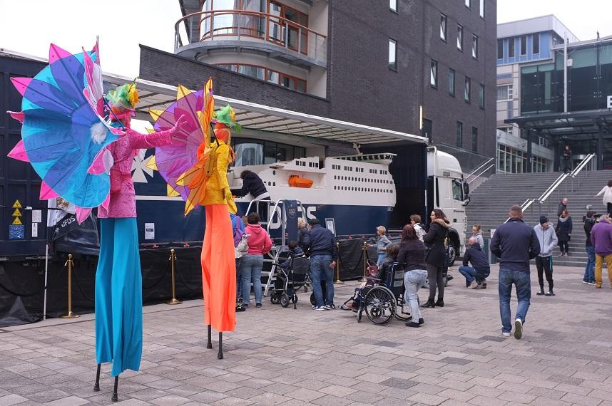Het grootste LEGO schip bij het Sophia Kinderziekenhuis in Rotterdam