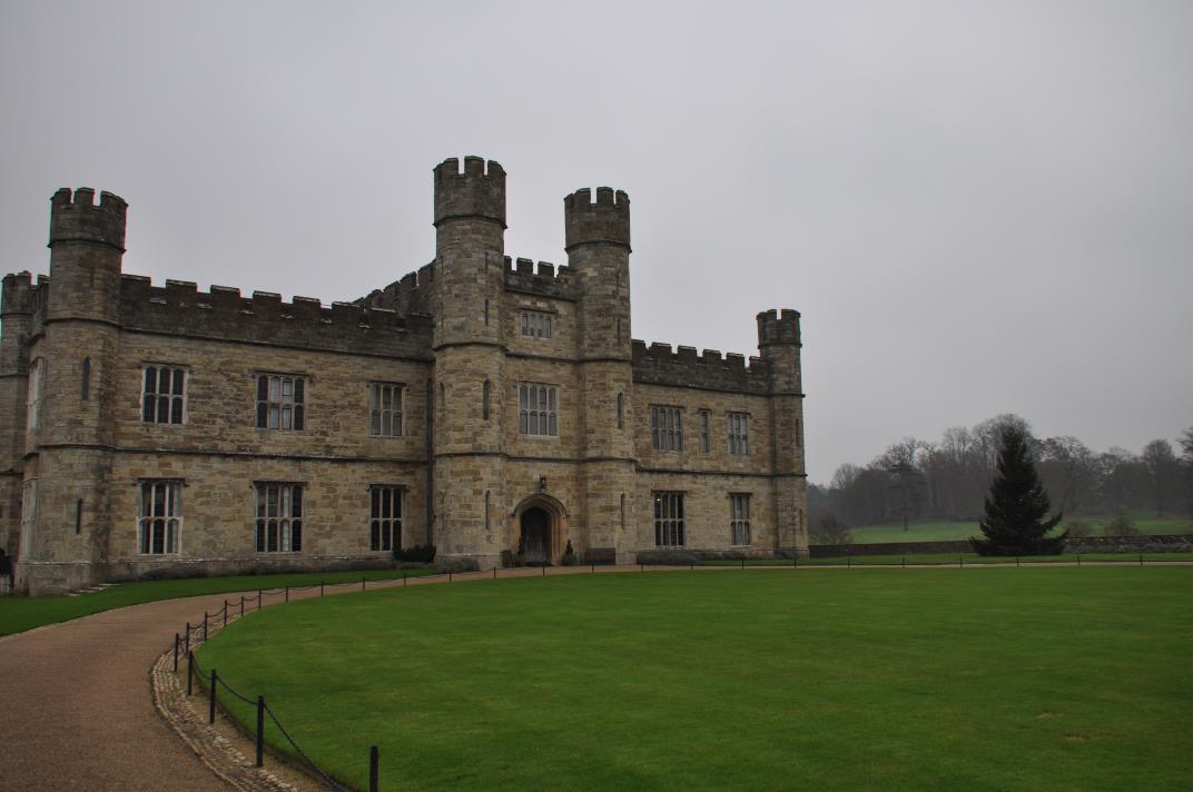 Een mistig Leeds Castle