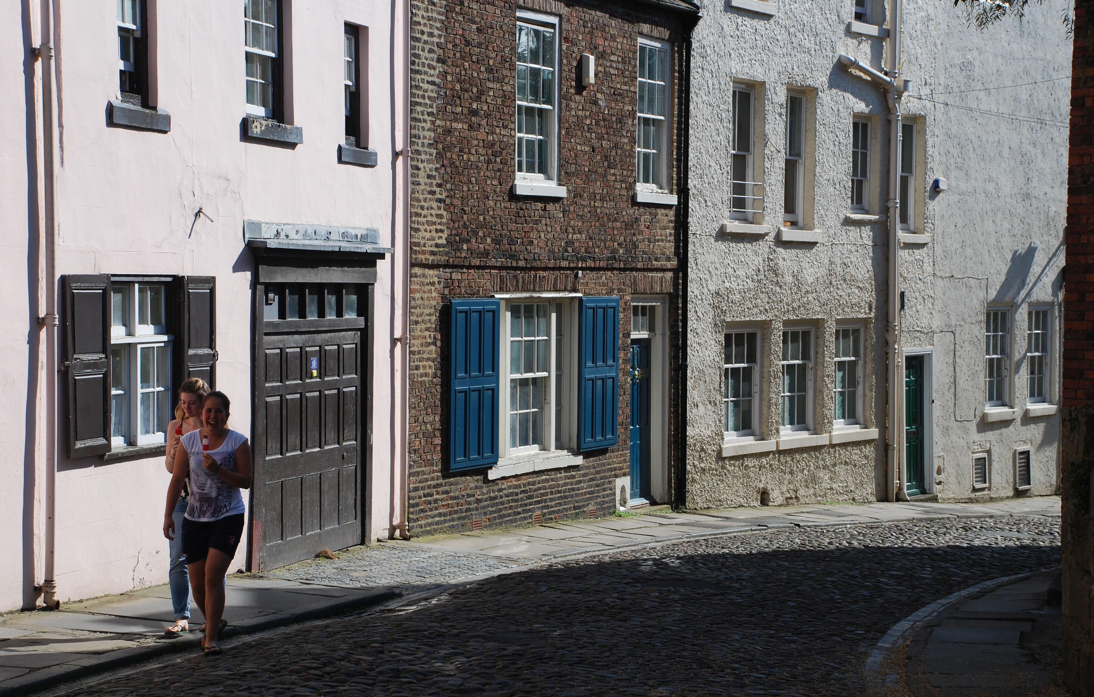 Durham - steile kasseistraatjes