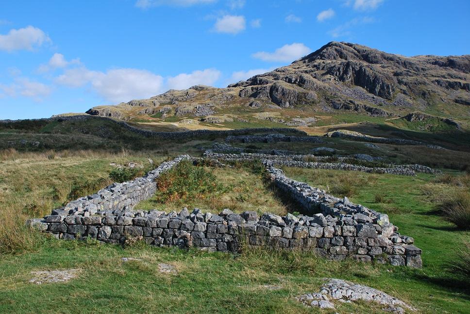 Roman Fort bij de Hardknott Pass