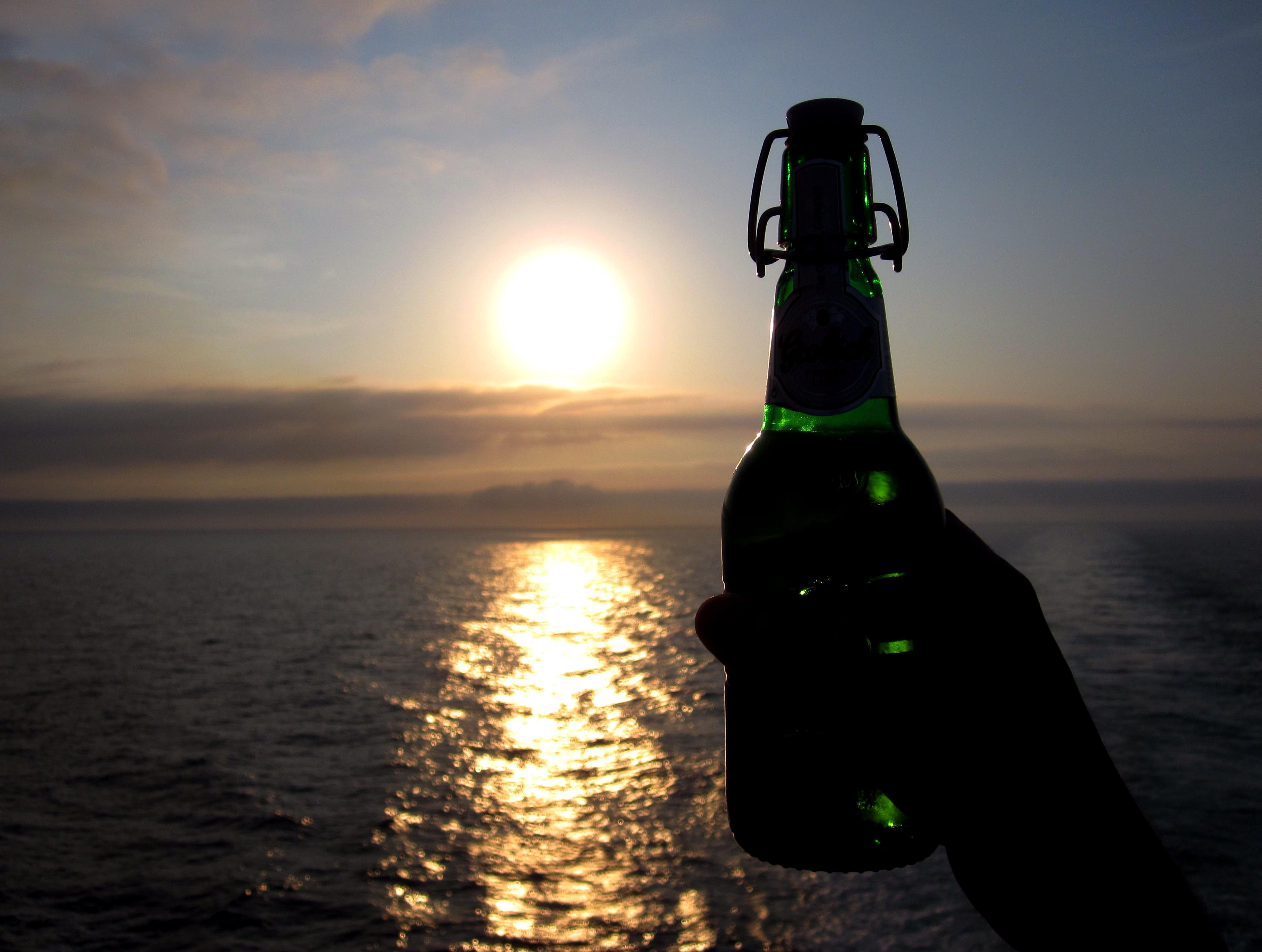 Biertje aan boord