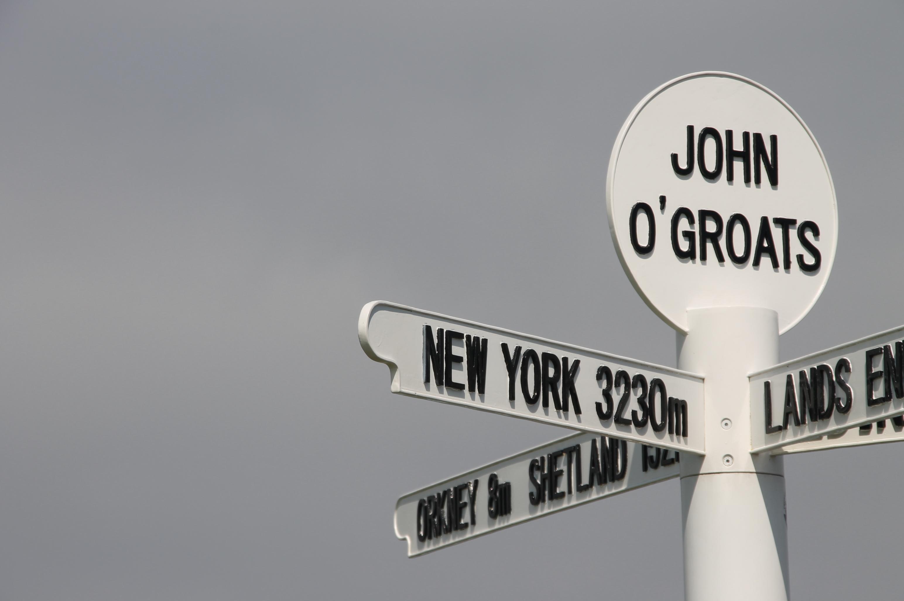 John O'Groats - de meest noordelijke punt van Schotland