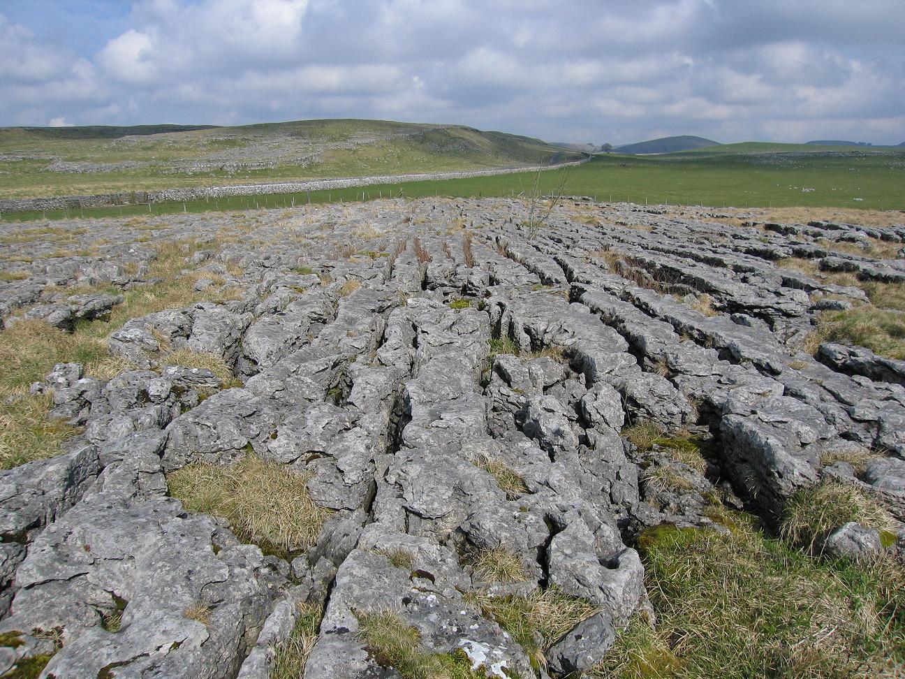 Kalkstenen 'plaveisel' in Yorkshire Dales National Park in Malham