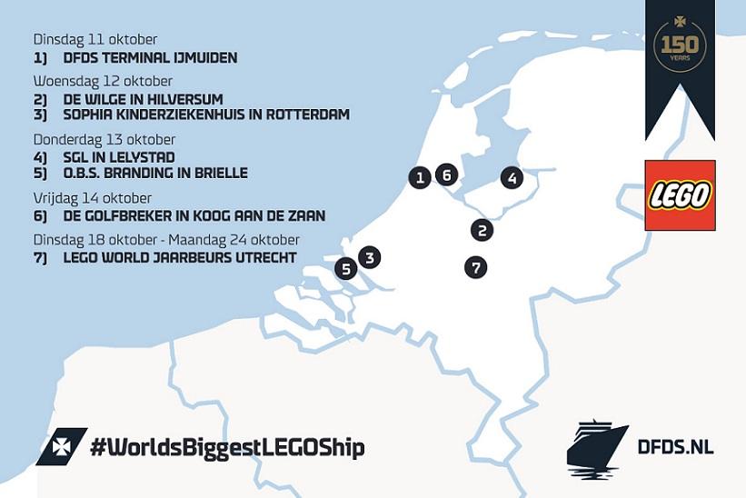 LEGO routemap Nederland