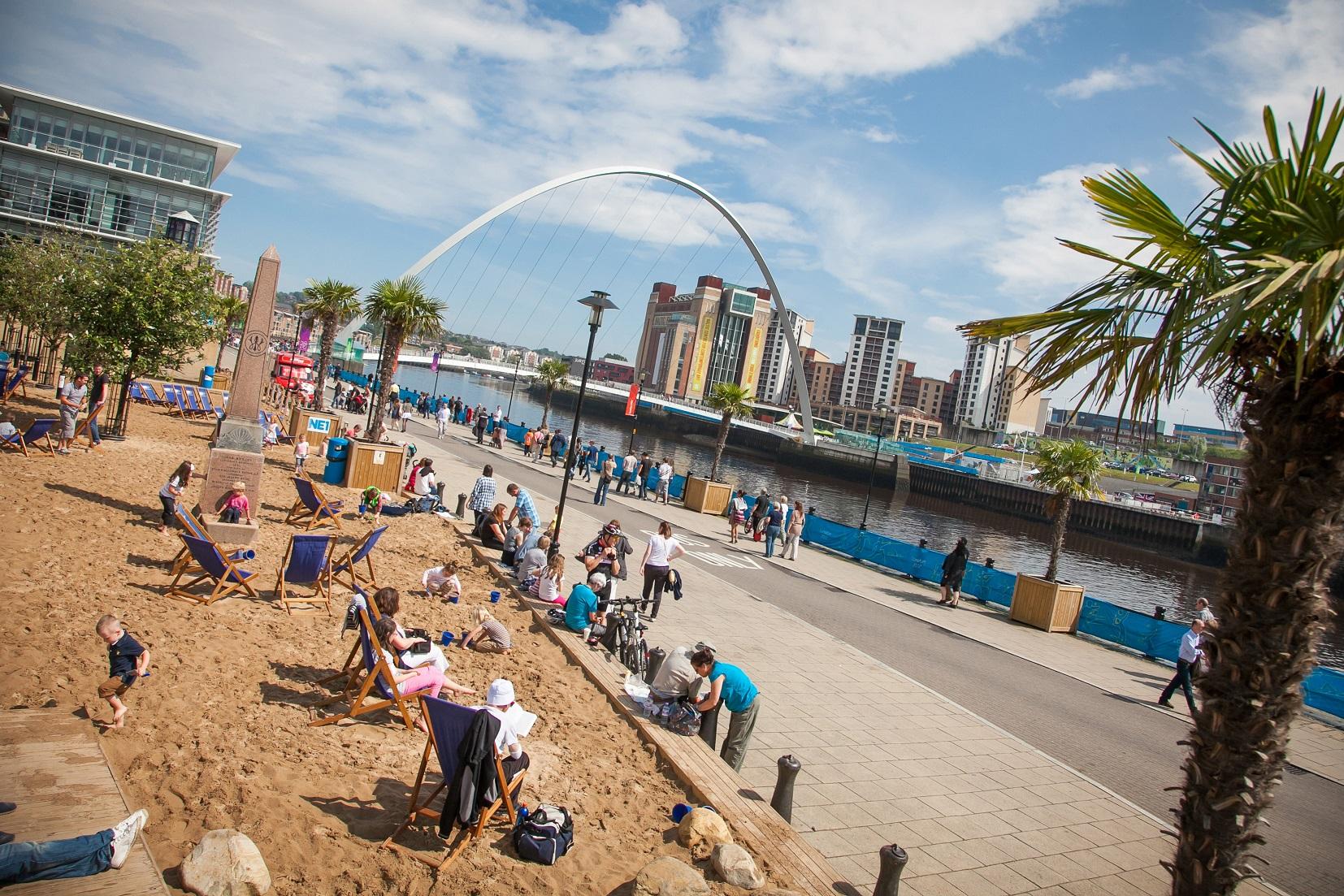Zomer in Newcastle - het stadsstrand