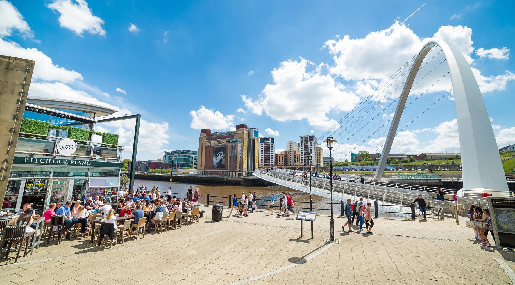 Newcastle zoals het er tegenwoordig uitziet
