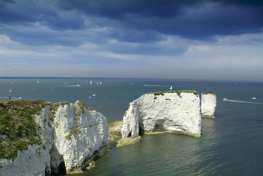 De kusten van Zuid-Engeland