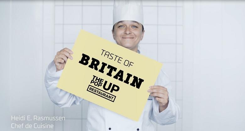 Het menu in juli in het PopUp Restaurant: British Gastropub