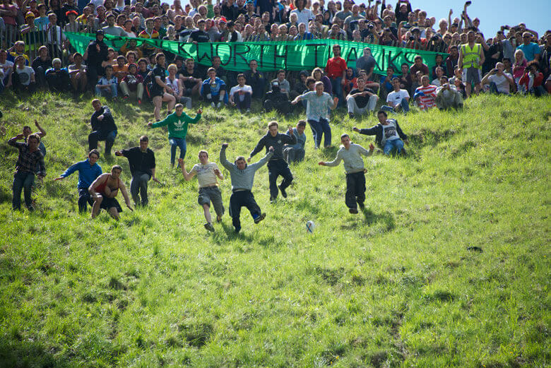 Cheese Rolling in Gloucestershire
