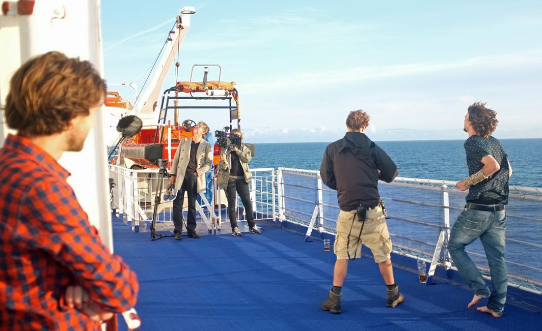 Opnames voor de nieuwe Nederlandse film Waterboys