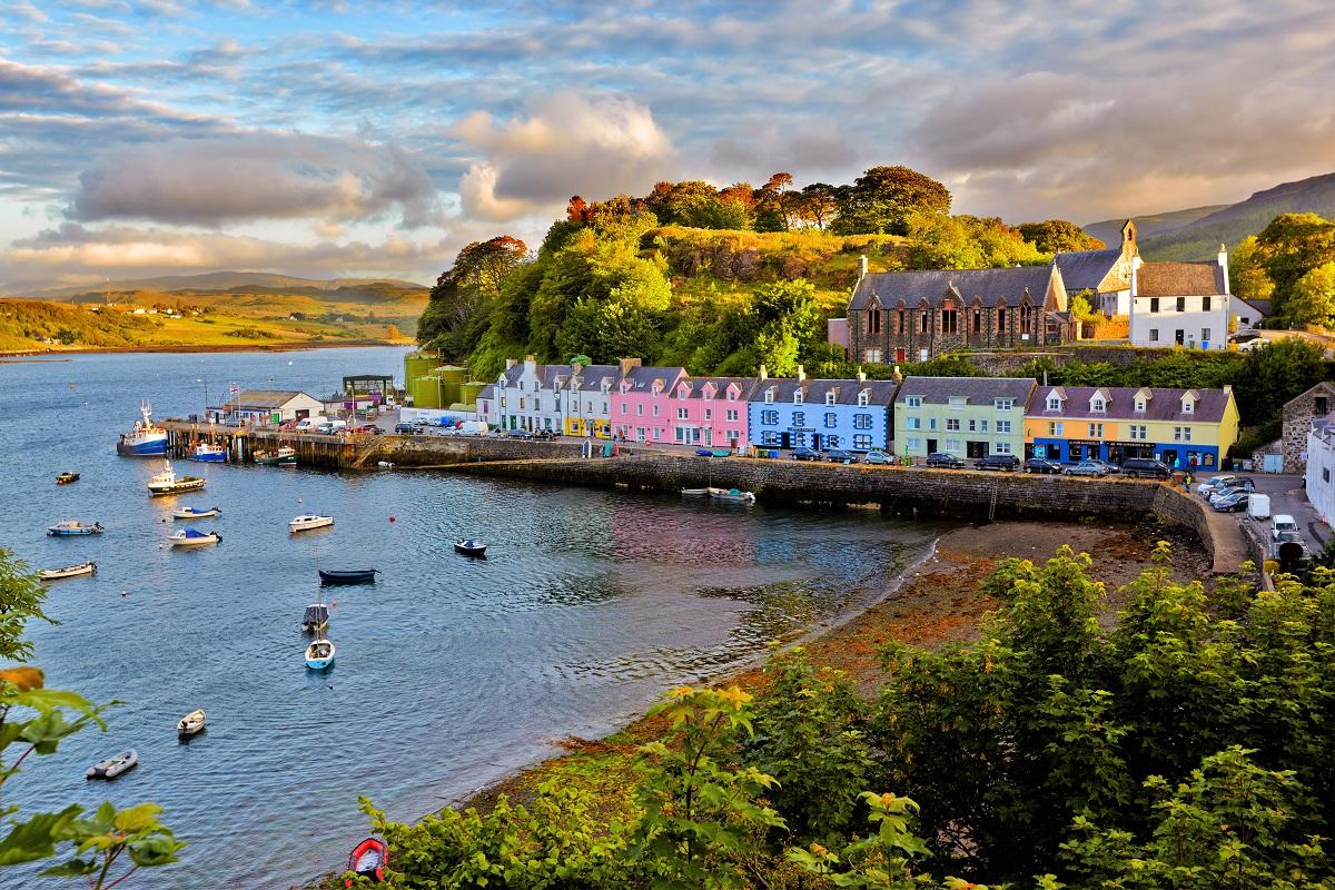 In de herfst naar Schotland - Portree (Skye)