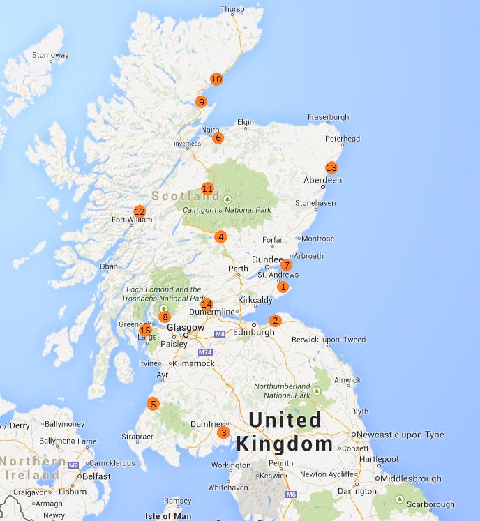 De mooiste golfbanen van Schotland