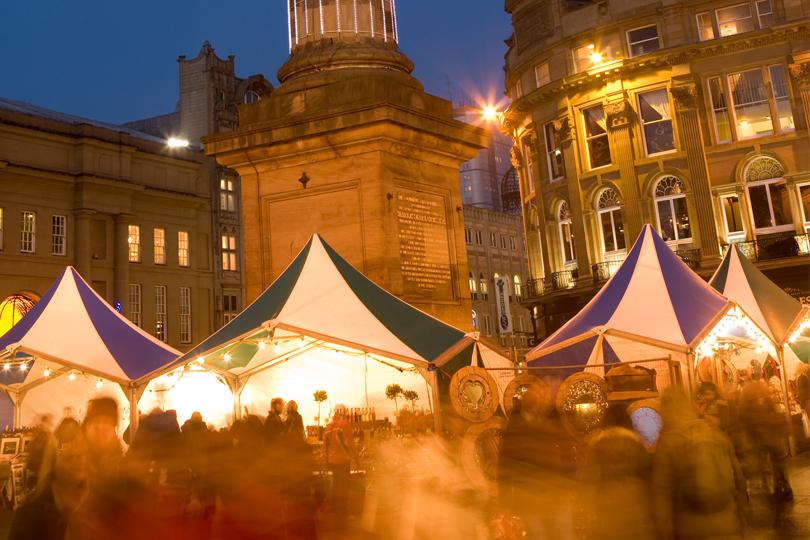 Kerstshoppen in Newcastle