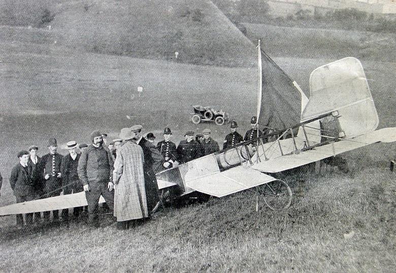 Louis Blériot vloog in 1909 als eerste over het Kanaal