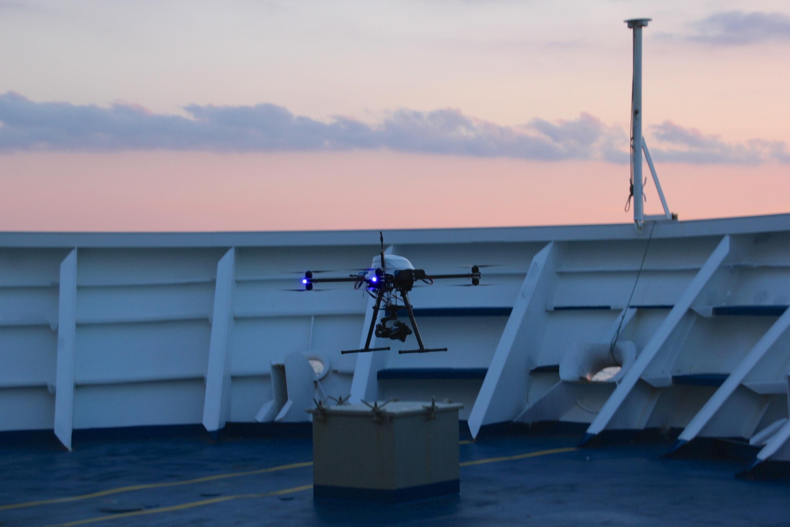 droneshoot aan boord van PEARL Seaways
