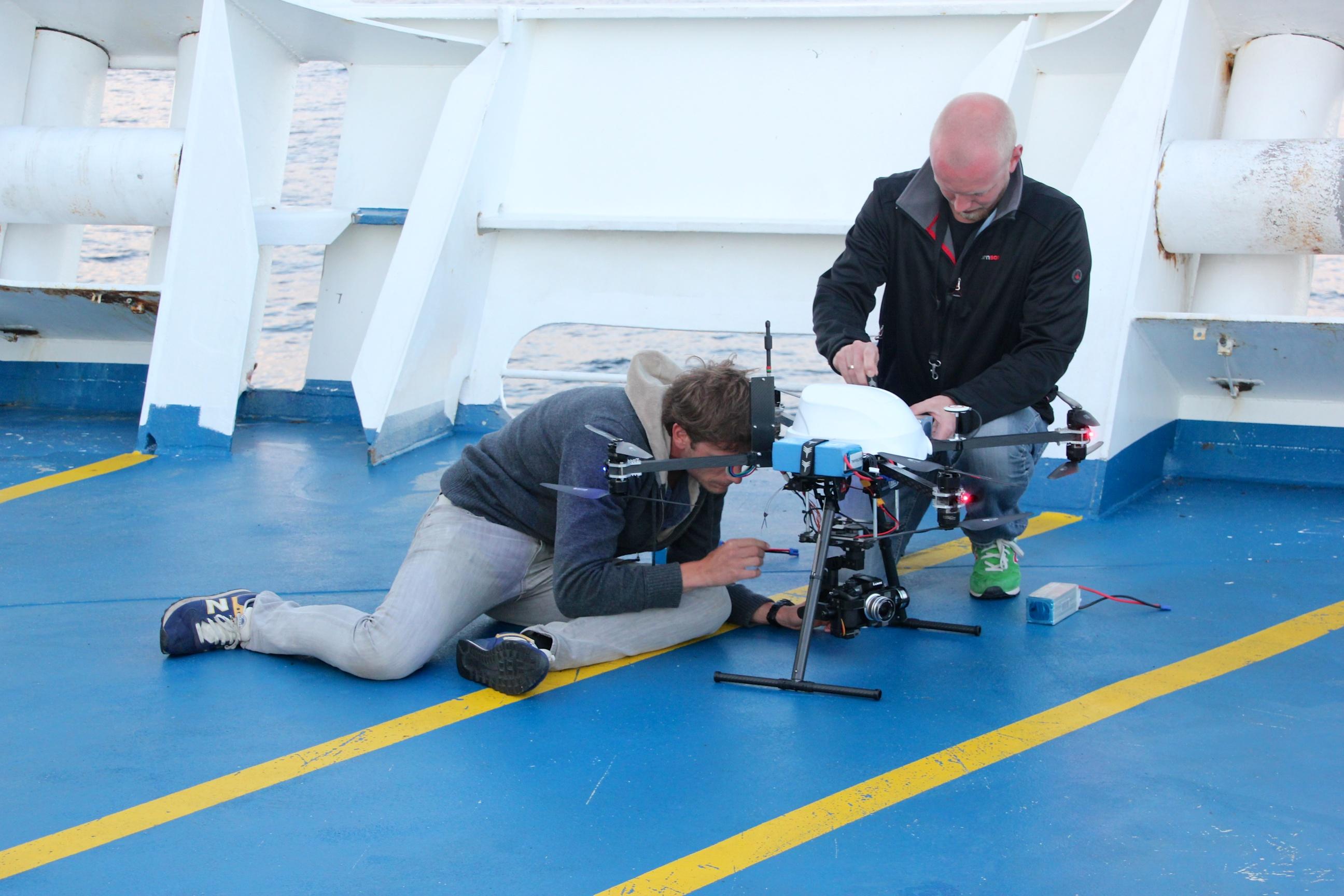 Fotoblog - drone aan boord van KING Seaways