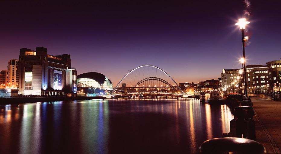 De 7 bruggen over de rivier de Tyne