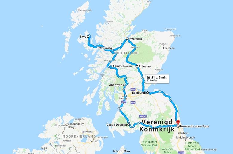 Een mooie route voor een rondreis door Schotland