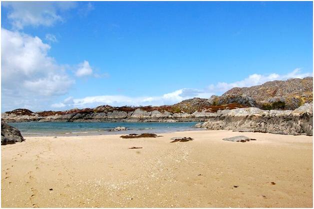 Stranden in Schotland