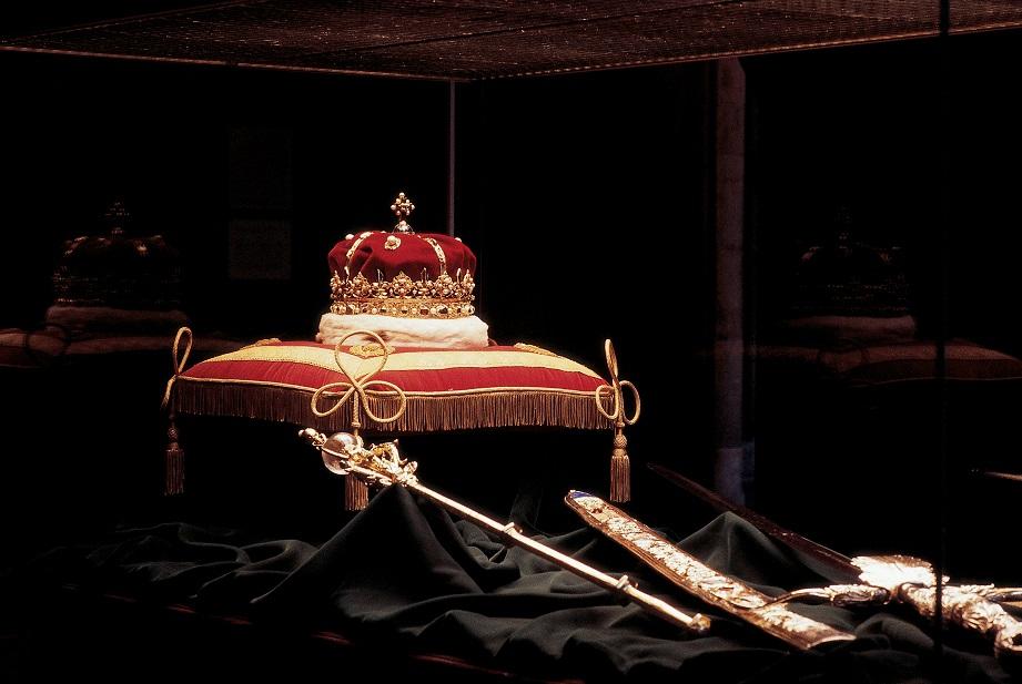 De kroonjuwelen in Edinburgh Castle