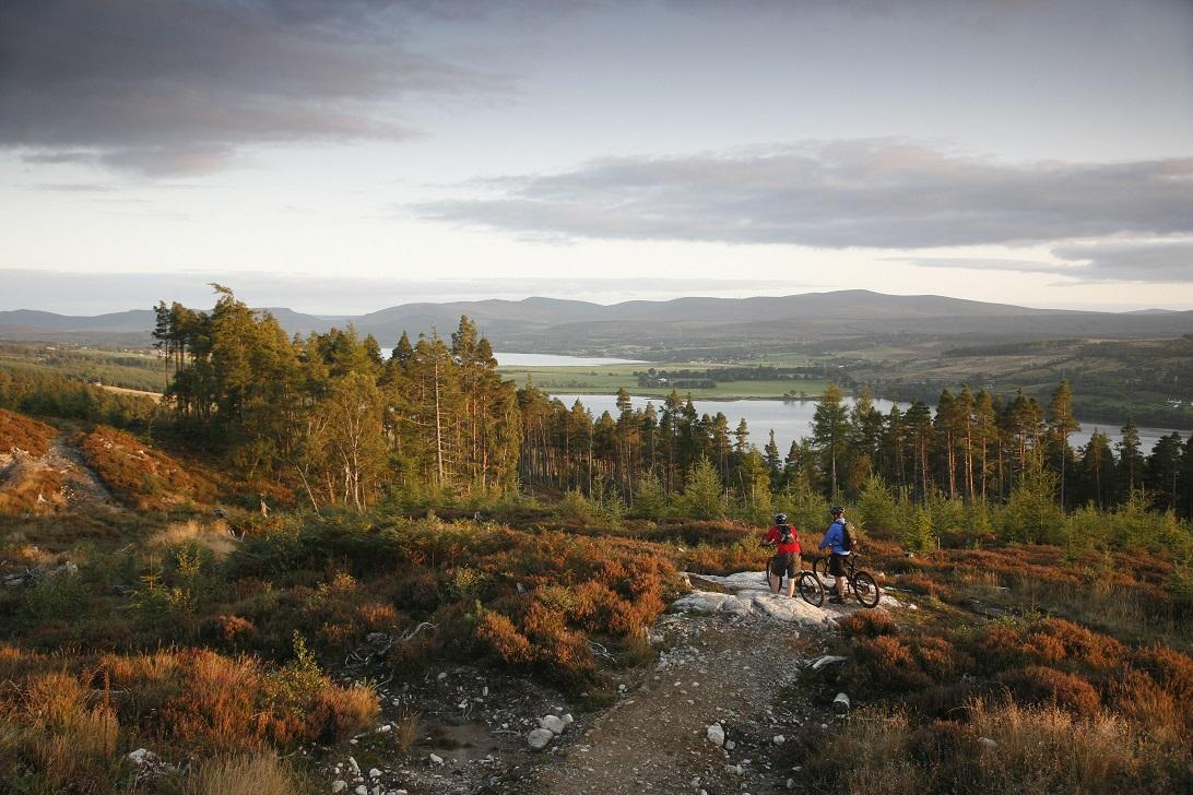 Mountainbiken in Schotland