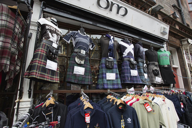 Een van de winkeltjes aan The Royal Mile