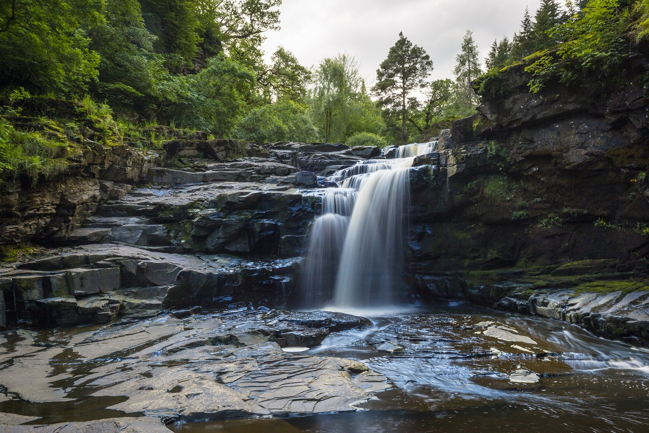 Waterval bij de Falls of Clyde - VisitScotland / Kenny Lam, all rights reserved