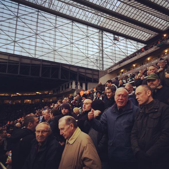 Voetbal in Newcastle - Vanaf de tribune