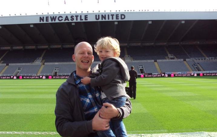 Vader en zoon weekend in Newcastle